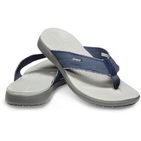 Crocs Santa Cruz Canvas Flip Sandalen Herren navy/light grey